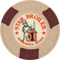 Miscellaneous:Gaming Chips, Winnemucca, Nevada: $1 Star Broiler Chip....