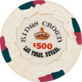 Miscellaneous:Gaming Chips, Las Vegas Casinos: $500 Kings Crown Chip....