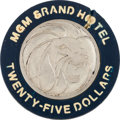 Miscellaneous:Gaming Chips, Las Vegas Casinos: $25 MGM Grand Chip....