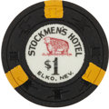 Miscellaneous:Gaming Chips, Elko, Nevada Casino: $1 Stockmen's Hotel Chip....