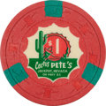 Miscellaneous:Gaming Chips, Jackpot, Nevada Casino: $1 Cactus Pete's Chip....