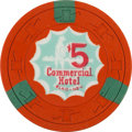 Miscellaneous:Gaming Chips, Elko, Nevada Casino: $5 Commercial Hotel Chip....