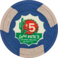 Miscellaneous:Gaming Chips, Jackpot, Nevada Casino: $5 Cactus Pete's Chip....