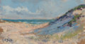 Fine Art - Painting, American:Modern  (1900 1949)  , ARTHUR VIDAL DIEHL (American, 1870-1929). Pathway to the Beach,Provincetown. Oil on board. 3-5/8 x 6-3/4 inches (9.2 x ...