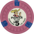 Miscellaneous:Gaming Chips, Las Vegas Casinos: $5 Pioneer Chip....