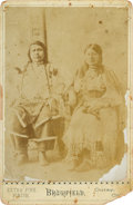 Photography:Cabinet Photos, Cabinet Card: Ouray Chief of the Utes & Squaw....