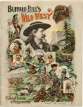 Books:Pamphlets & Tracts, Buffalo Bill's Wild West: 1896 Program in Exceptional Condition....