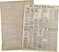 Western Expansion:Cowboy, Jesse James: Period Newspaper Reports....
