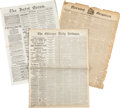Western Expansion:Cowboy, Sitting Bull and Chief Joseph: Newspaper Accounts....