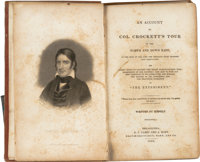 "Davy Crockett: An 1835 Volume ""Written by Himself."""