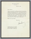 Autographs:U.S. Presidents, John F. Kennedy Typed Letter Signed....