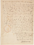 Autographs:U.S. Presidents, [War of 1812]. James Monroe Document Signed...