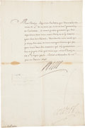 Autographs:Non-American, Louis XIV of France Document Signed...