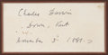 Autographs:Celebrities, Charles Darwin Clipped Signature. ...