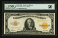 Large Size:Gold Certificates, Fr. 1173 $10 1922 Gold Certificate PMG Very Fine 30.. ...