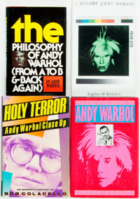[Andy Warhol]. Group of Four First Editions by or About Andy Warhol. Various publisher's and dates. Publisher's cloth