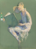 Mainstream Illustration, GUY HOFF (American, 1889-1962). Clicquot Club, probableadvertisement. Pastel on board. 38.5 x 28 in.. Signed lowerrigh...