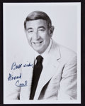 Football Collectibles:Photos, Howard Cosell Signed Photograph....