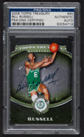 Basketball Collectibles:Others, 2008 Topps Treasury Bill Russell #95 PSA/DNA Authentic....