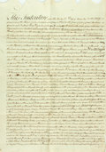 "Autographs:Non-American, Land Indenture in the Reign of George III. Dated November 13th,1792. A single sheet folded, measuring approximately 27"" x 1..."
