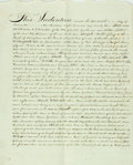 "Autographs:Non-American, Land Indenture in the Reign of George IV. Dated November 14th,1823. A single sheet, folded, measuring approximately 23""..."