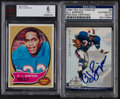 Football Cards:Singles (1970-Now), 1970 Topps & 1994 Ted Williams Signed O.J. Simpson Card Pair(2). ...