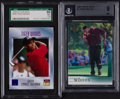 Golf Cards:General, 1996-2001 SI & Upper Deck Tiger Woods Graded Pair (2). ...