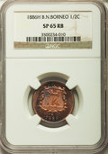 British North Borneo, British North Borneo: British Administration Specimen 1/2 Cent 1886-H SP65 Red and Brown NGC,...