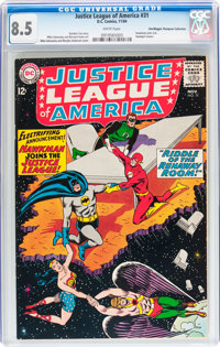 Justice League of America #31 Don/Maggie Thompson Collection pedigree (DC, 1964) CGC VF+ 8.5 White pages