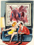 """Pin-up and Glamour Art, PHIL INTERLANDI (American, 1924-2002). """"You Have a Dirty Mind..I Like That in a Man,"""" Playboy cartoon illustration, Nov..."""