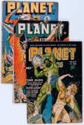 Golden Age (1938-1955):Science Fiction, Planet Comics Group (Fiction House, 1945-53) Condition: AverageGD.... (Total: 5 Comic Books)