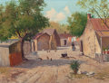 Texas:Early Texas Art - Regionalists, PORFIRIO SALINAS (American, 1910-1973). Irish Flats, SanAntonio, Texas. Oil on canvas. 16 x 21 inches (40.6 x 53.3cm)...