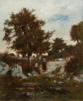 Paintings, FREDERICK DICKINSON WILLIAMS (American, 1829-1915). Resting on the Way Home, Brittany, 1877. Oil on canvas. 15-1/4 x 12-...