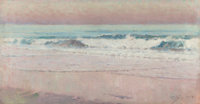 ERIC PAPE (American, 1870-1938) Evening Tide, 1929 Oil on canvas 12 x 23 inches (30.5 x 58.4 cm)<