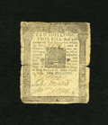 Colonial Notes:Pennsylvania, Pennsylvania October 1, 1756 10s Good-Very Good. This note carriesserial number 11979-A and was once part of Lot 1589 of Pa...