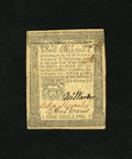 Colonial Notes:Pennsylvania, Pennsylvania October 25, 1775 1s Extremely Fine. A center fold anda little more handling account for the grade of this note...