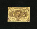 Fractional Currency:First Issue, Fr. 1230 5c First Issue Very Fine. This is a moderately handled Fractional....