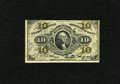 Fractional Currency:Third Issue, Fr. 1255 10c Third Issue Extremely Fine. A center fold plus a couple of corner folds are detected on this note....