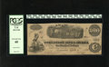 Confederate Notes:1862 Issues, T40 $100 1862. The handling for this note is found in theneighborhood of the left and right-hand edges. PCGS Extremely Fi...