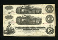 Confederate Notes:1862 Issues, T40 $100 1862 Two Examples. This closely numbered duo carries aJan. 6, 1863 date that is just two days away from the last d...(Total: 2 notes)