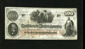 Confederate Notes:1862 Issues, T41 $100 1862. This attractive note probably never enteredcirculation as it has three Jackson, Mississippi interest paidru...