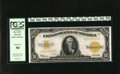 Large Size:Gold Certificates, Fr. 1173 $10 1922 Gold Certificate PCGS About New 50. Exquisite inks and light handling define this $10 Gold....