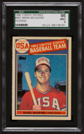 Baseball Cards:Singles (1970-Now), 1985 Topps Tiffany Mark McGwire #401 SGC 96 Mint 9 - None Higher....