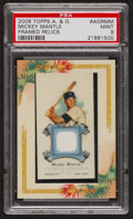 "Baseball Cards:Singles (1970-Now), 2006 Topps ""Allen & Ginter"" Framed Relics Mickey Mantle #AGRMMPSA Mint 9...."