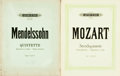 Books:Music & Sheet Music, [Sheet Music]. Two Books of Sheet Music by Mendelssohn and Mozart.Edition Peters, [n.d.]. Some chipping at edges. Very good...(Total: 2 Items)