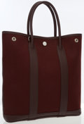 Luxury Accessories:Bags, Hermes 30cm Havane Buffalo Leather & Canvas Garden Party CabasBag with Palladium Hardware. ...