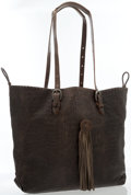 Luxury Accessories:Bags, Henri Beguelin Brown Leather Shoulder Bag with Tassel . ...