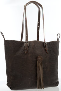 Henri Beguelin Brown Leather Shoulder Bag with Tassel
