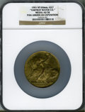 Expositions and Fairs, 1901 Pan-American Exposition, Vartray Water Co. AU58 NGC. Gilt, 64mm. New York....