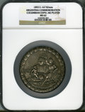 Expositions and Fairs, (2) 1893 World's Columbian Exposition, 1892 ArgentinaCommemoration. Eglit-167, 82 mm. The first medal is MS62 NGC,silv... (Total: 2 medals)